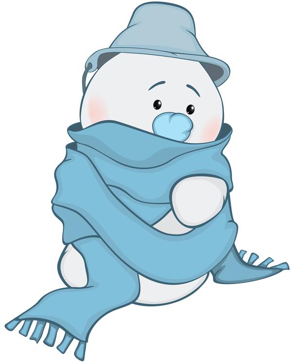 pupazzo di neve divertente cartone animato