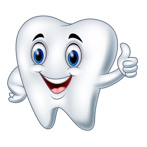 funny cartoon tooth vector illustration 02 welovesolo