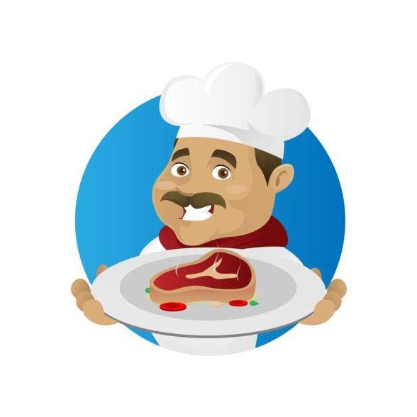 Zeichen lustig Kochen koch