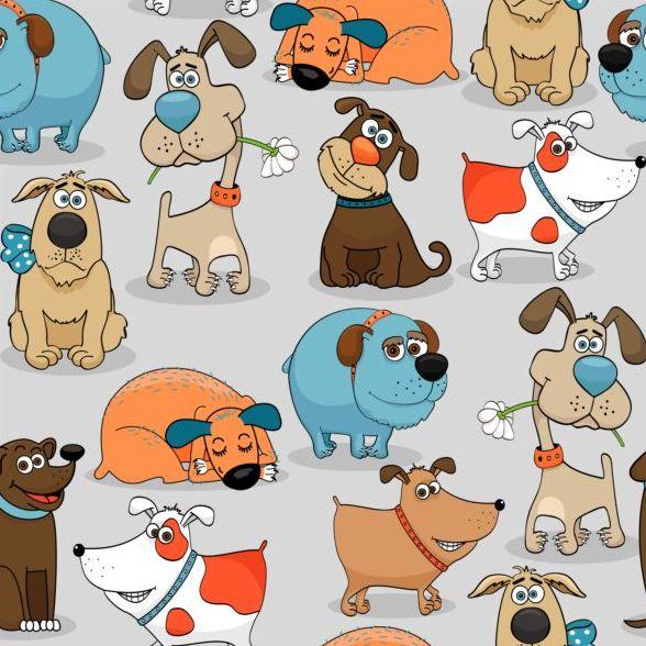 senza giunte reticolo divertente cartone animato cane