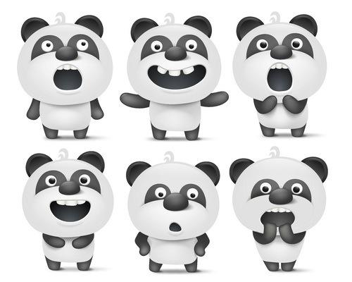 panda divertente