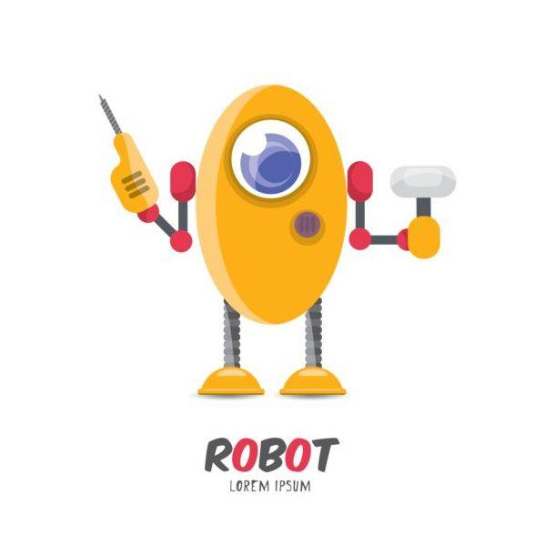 robot divertente cartone animato