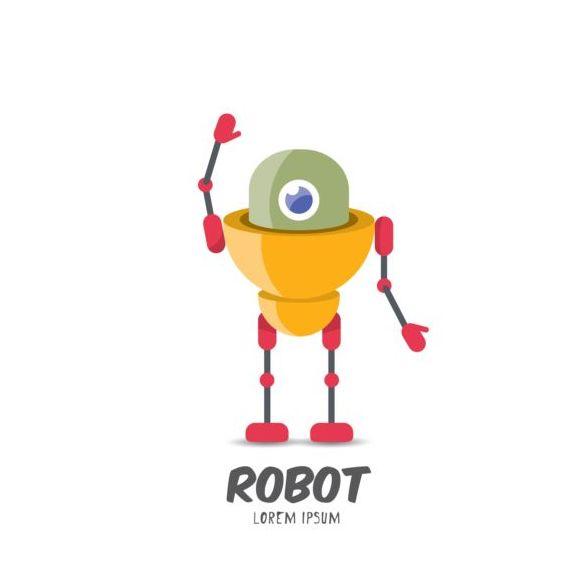 Vettori di robot divertente fumetto set welovesolo