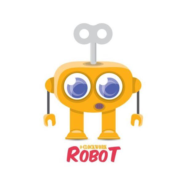 tecknad rolig robot