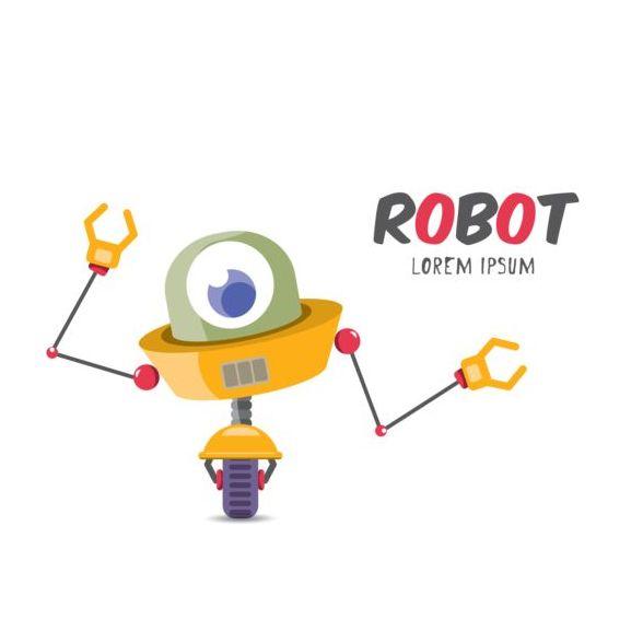 robot Funny dessin animé