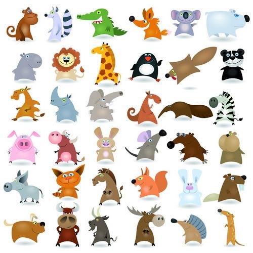 tecknad roligt djur