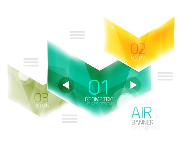 infographic Glas Geometrisk alternativ