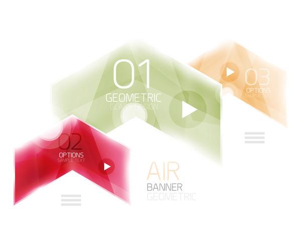Optionen Infografik Glas Geometrische