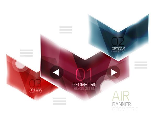 verre options infographie géométrique