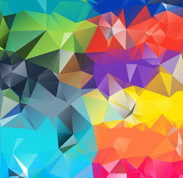 polygone géométrique colore
