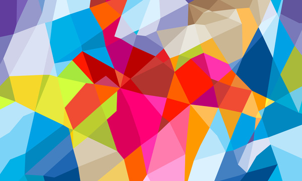 polygon geometriska färgglada