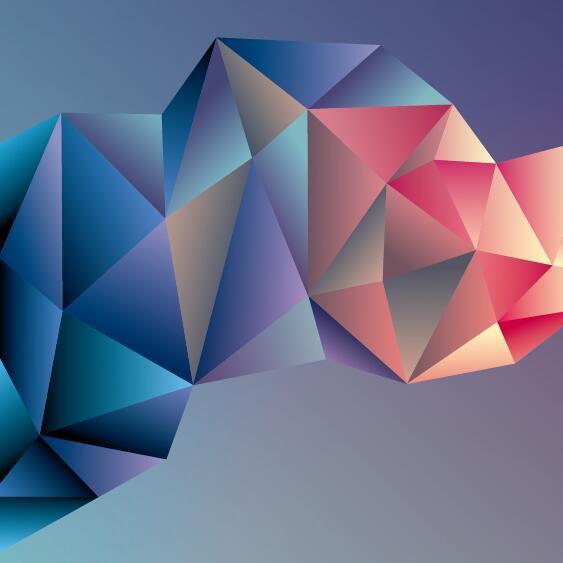 、抽象的、幾何学的、ポリゴン