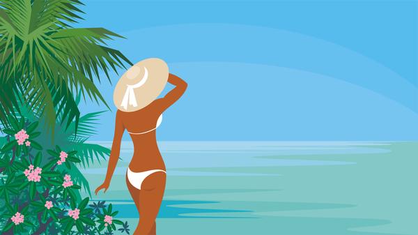 vacation summer girl