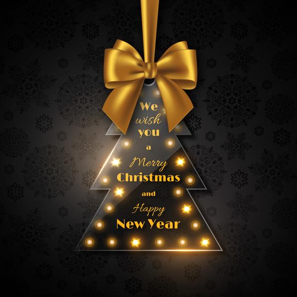 Weihnachten golden Glas Bogen Baum