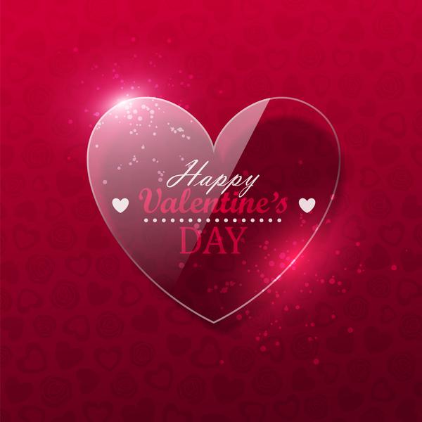 valentine hjärtat Glas