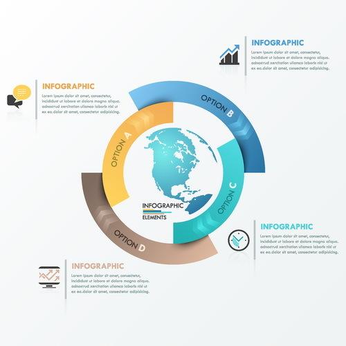Infografik globe