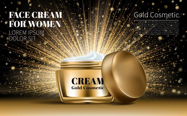 poster Kosmetik gold