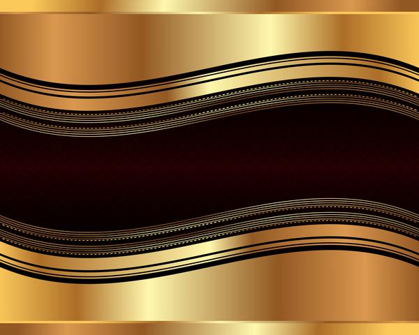 Retro-Schriftart Metall gold