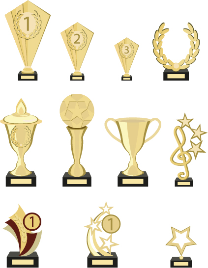 trophy samling guld