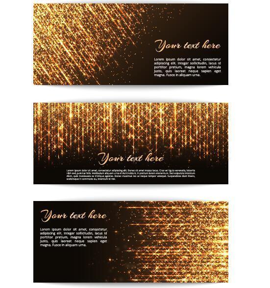 golden faisceau bannières