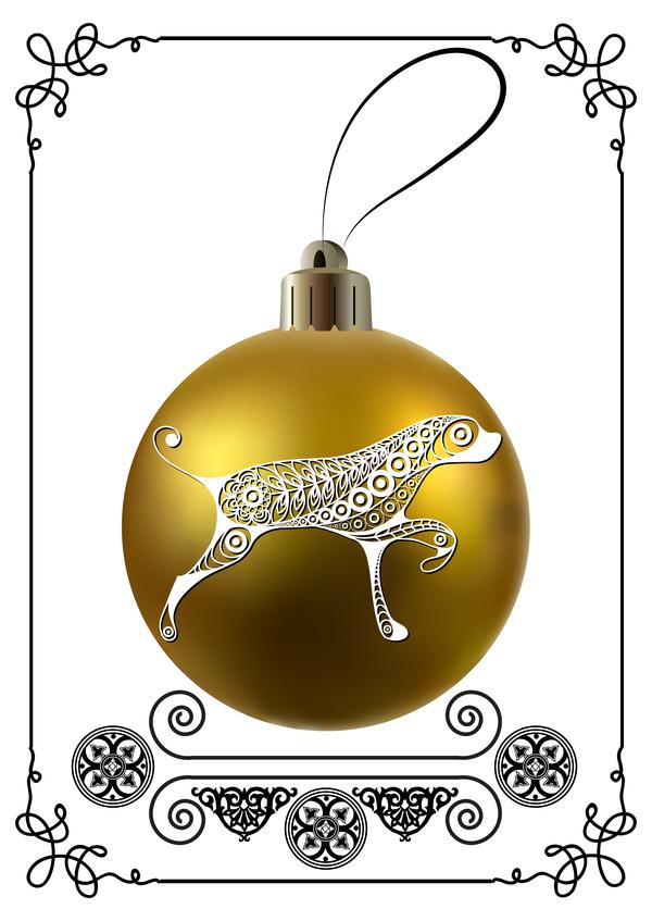 ram nya jul Hund golden boll ar