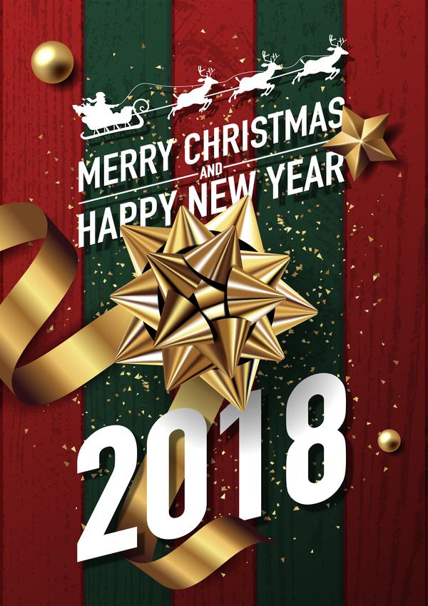 Weihnachten Neu Jahr golden Dekor 2018
