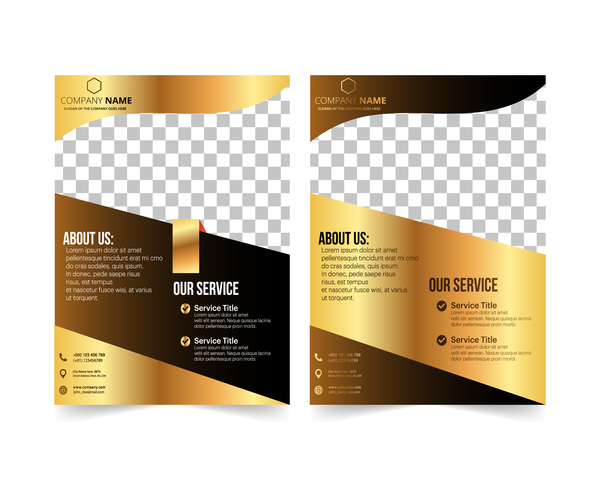 golden couvrir compagnie brochure