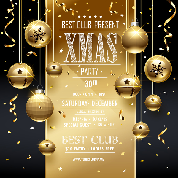 Weihnachten Konfetti Karte golden Dekor