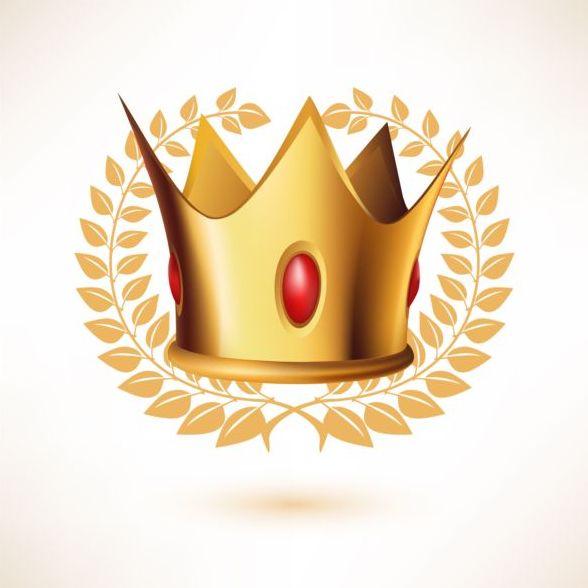rod laurel krona Gyllene gem