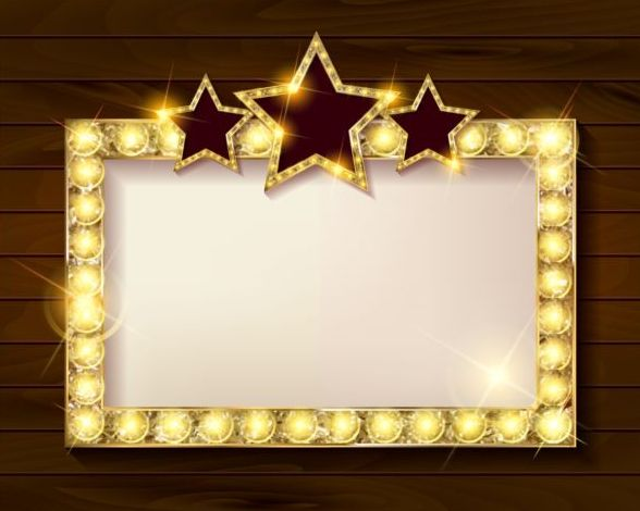abcc94df088e Golden diamond frame with wooden background vector - WeLoveSoLo