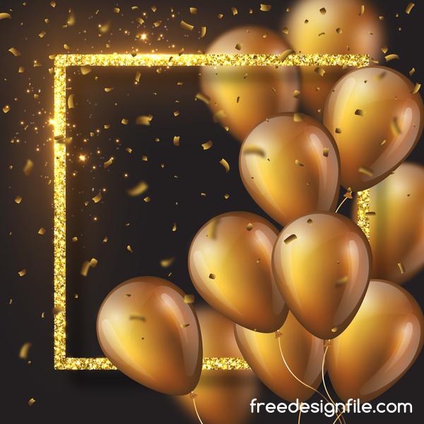 ram Konfetti golden ballong