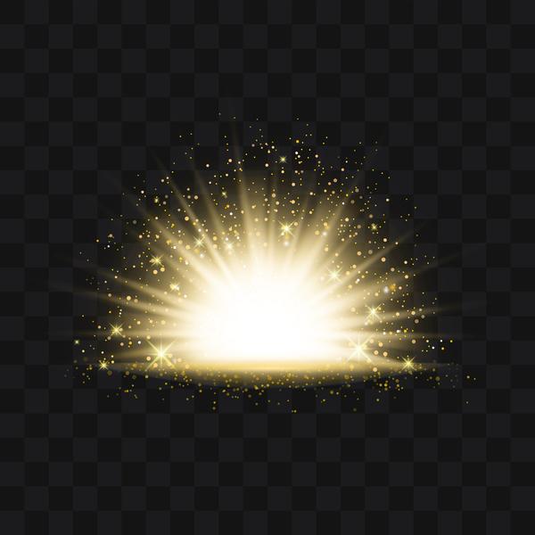 ljus Gyllene Effekt