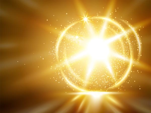 ljus Gyllene Effekt Abstrakt