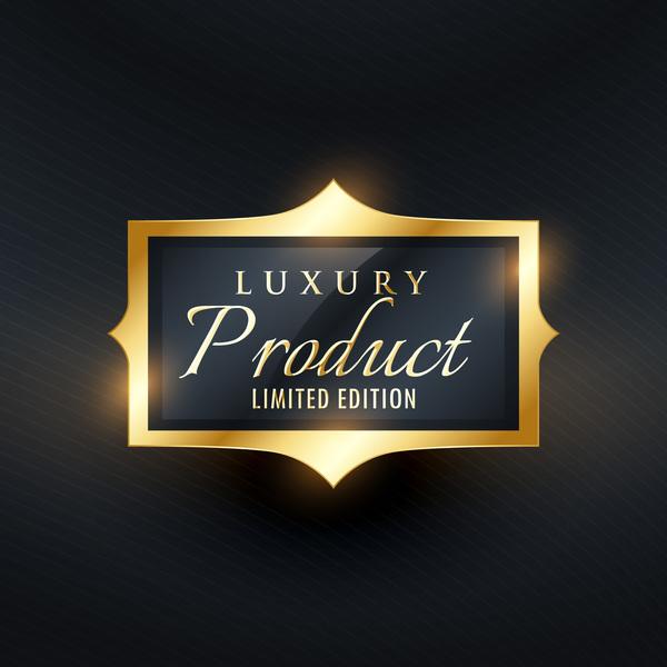 Produkt golden Etiketten