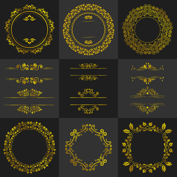 telaio rotondo oranment golden Calligrafico