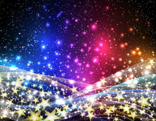 stjärnor ljus Gyllene Abstrakt