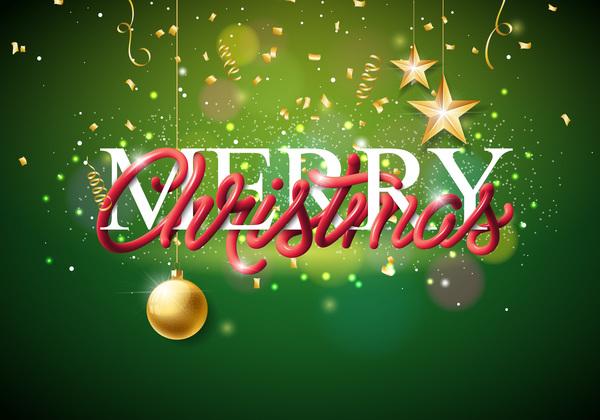 verde stelle palla Natale dorato decorazione