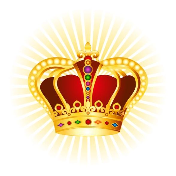 red golden crown