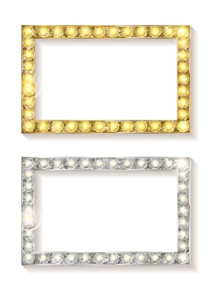 or frame Diamant argent