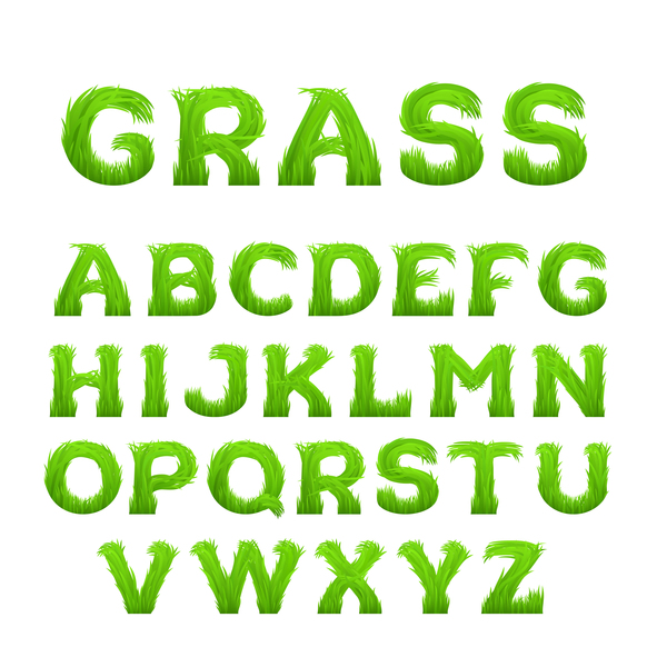grönt gröna gräs Alfabetet