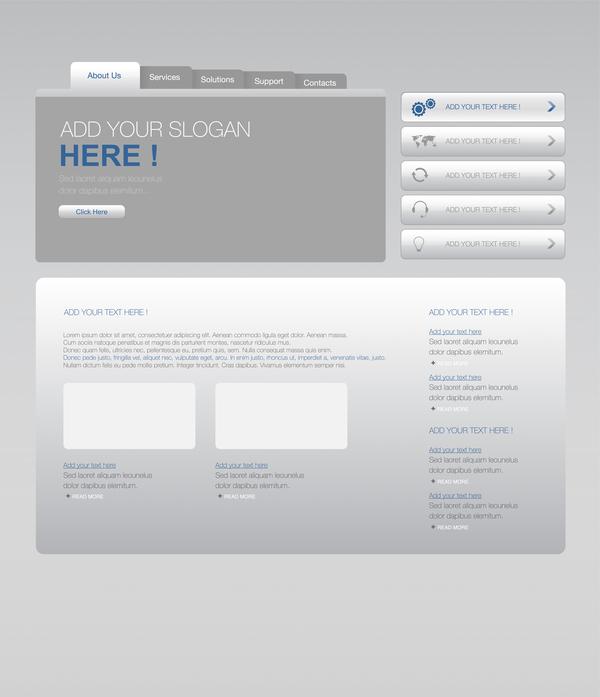 site Web gris