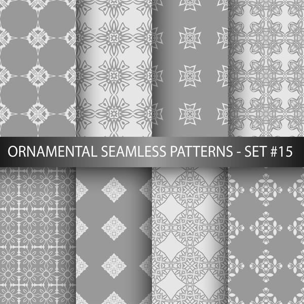 seamless pattern ornamento grigio bianco
