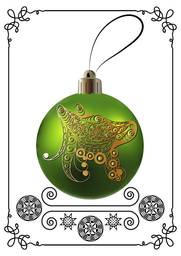 verde telaio palla Nuovo Natale cane anno