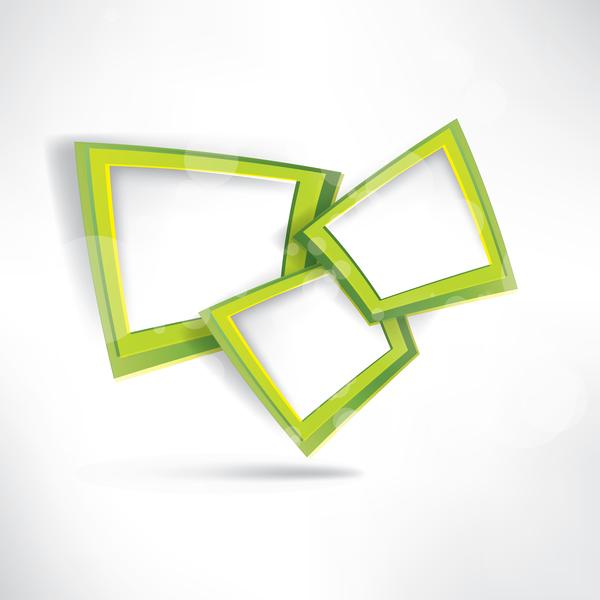 weiß Rahmen grün