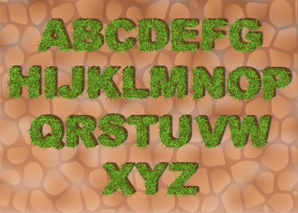 verde erba Alfabeto
