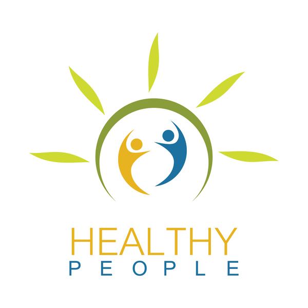 personer logotyp hälsa grön
