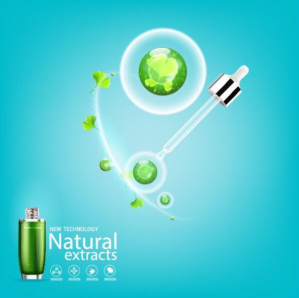 kosmetika grön blad affisch