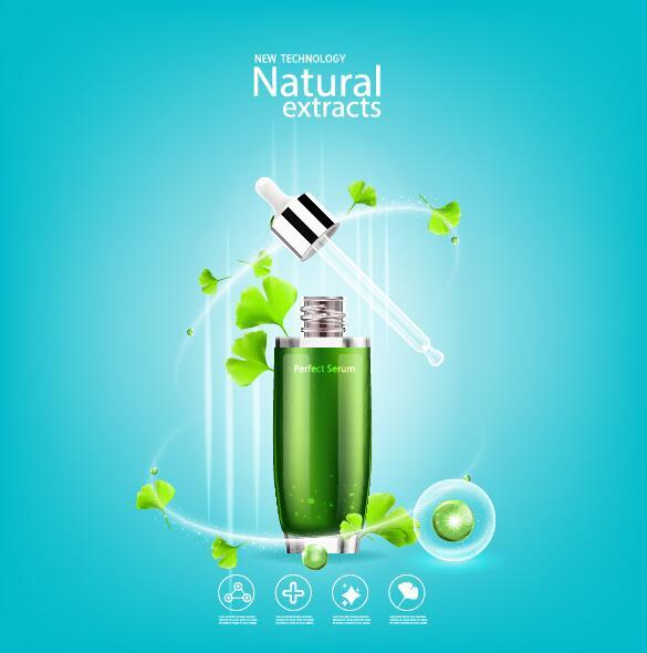 、化粧品、緑、葉、ポスター