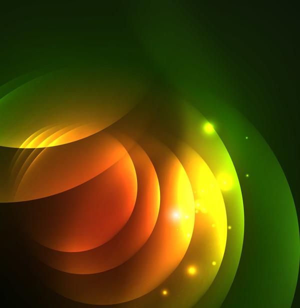 、抽象的な効果、緑、光