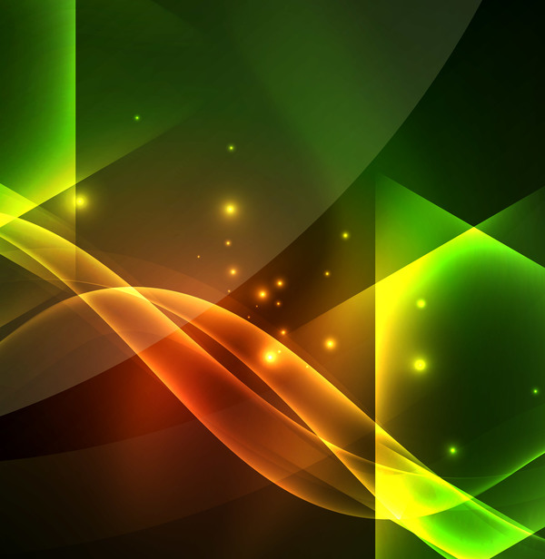 luce verde effetto astratto